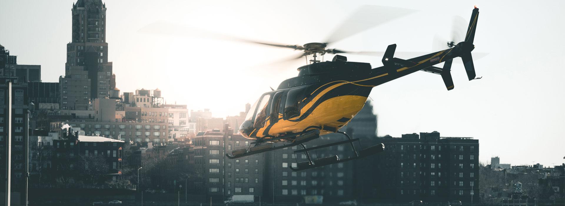 Bienvenue à bord d'un hélicoptère