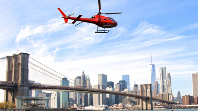 Profiter d'un baptême en hélicoptère pour profiter d'une vue du ciel de la ville de New-York